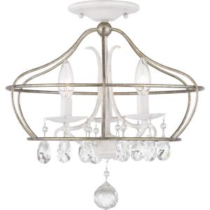 Fleurette - Three Light Convertible Semi-Flush Mount