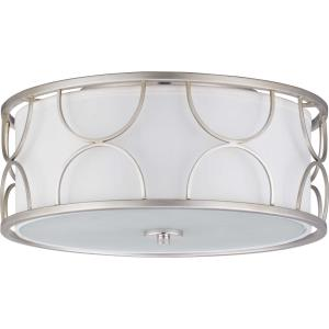 Landree - 6.625 Inch Height - Close-to-Ceiling Light - 3 Light - Line Voltage - Damp Rated