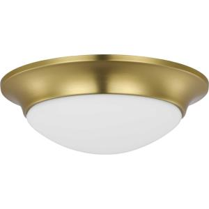Etched Glass Close-to-Ceiling - Close-to-Ceiling Light - 1 Light - Bowl Shade in Luxe and Transitional style - 11.5 Inches wide by 3.75 Inches high