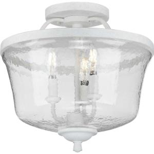 Bowman - 13.375 Inch Height - Close-to-Ceiling Light - 3 Light - Bell Shade - Line Voltage