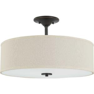 Inspire - Close-to-Ceiling Light - 3 Light - Drum Shade in Farmhouse style - 18 Inches wide by 11.5 Inches high