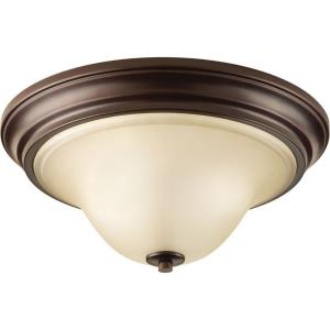"Spirit - 15"" Two Light Flush Mount"