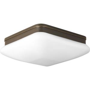 Appeal - Close-to-Ceiling Light - 2 Light - Square Shade in Modern style - 11 Inches wide by 3.75 Inches high