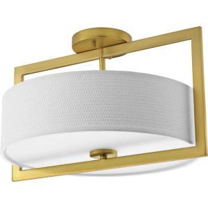 Harmony - 16.94 Inch 3 Light Convertible Semi-Flush Mount
