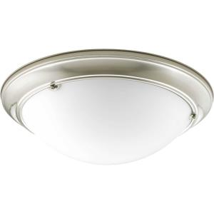 Eclipse - Close-to-Ceiling Light - 3 Light - Bowl Shade in Modern style - 19.38 Inches wide by 5.5 Inches high