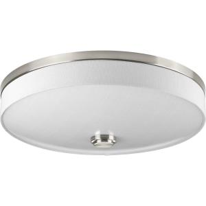 Weaver LED - 4 Inch Height - Close-to-Ceiling Light - 2 Light - Drum Shade - Line Voltage - Damp Rated