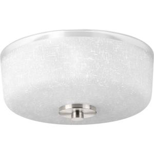 Alexa - Close-to-Ceiling Light - 2 Light - Bowl Shade in Modern style - 12.25 Inches wide by 6.38 Inches high