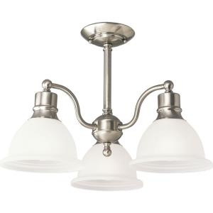 Madison - 14 Inch Height - Close-to-Ceiling Light - 3 Light - Bell Shade - Line Voltage