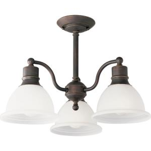 Madison - Close-to-Ceiling Light - 3 Light - Bell Shade in Transitional and Traditional style - 20.75 Inches wide by 14 Inches high