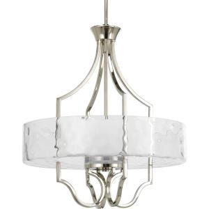 Caress - Three Light Inverted pendant