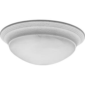Alabaster Glass - 4.625 Inch Height - Close-to-Ceiling Light - 2 Light - Bowl Shade - Line Voltage - Damp Rated