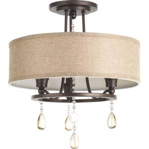 Flourish - 3 Light Convertible Semi-Flush Mount