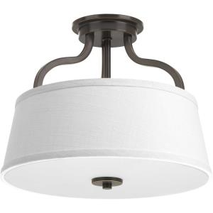 Arden - Close-to-Ceiling Light - 2 Light in Farmhouse style - 14 Inches wide by 11.38 Inches high