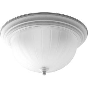 Melon - 7.5 Inch Height - Close-to-Ceiling Light - 3 Light - Bowl Shade - Line Voltage - Damp Rated