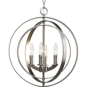 Equinox - 4 Light in Luxe and New Traditional and Transitional style - 16 Inches wide by 18.38 Inches high