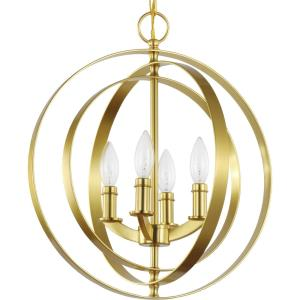 Equinox - Pendants Light - 4 Light in Luxe and New Traditional and Transitional style - 16 Inches wide by 18.38 Inches high