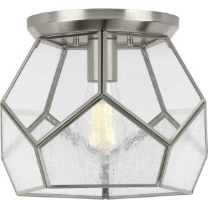 Cinq - Close-to-Ceiling Light - 1 Light in Bohemian and Farmhouse style - 12 Inches wide by 9.25 Inches high