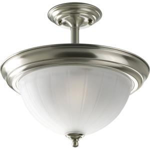 Melon - Close-to-Ceiling Light - 2 Light - Bowl Shade in Transitional and Traditional style - 13.25 Inches wide by 12.5 Inches high