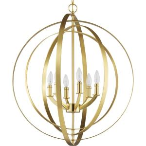 Equinox - Pendants Light - 6 Light in Luxe and New Traditional and Transitional style - 27.75 Inches wide by 30 Inches high