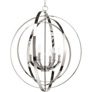 Equinox - 6 Light in Luxe and New Traditional and Transitional style - 27.75 Inches wide by 30 Inches high