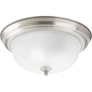 Dome Glass CTC - Close-to-Ceiling Light - 2 Light - Bowl Shade in Traditional style - 13.25 Inches wide by 5.81 Inches high