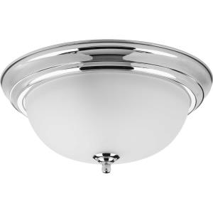 Dome Glass CTC - 5.875 Inch Height - Close-to-Ceiling Light - 2 Light - Bowl Shade - Line Voltage - Damp Rated