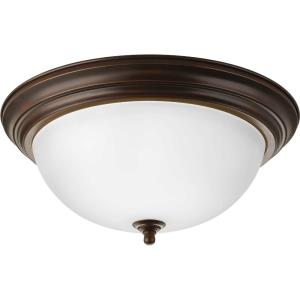 Dome Glass CTC - Close-to-Ceiling Light - 3 Light - Bowl Shade in Traditional style - 15.25 Inches wide by 6.63 Inches high