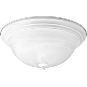Dome Glass CTC - 6.625 Inch Height - Close-to-Ceiling Light - 3 Light - Bowl Shade - Line Voltage - Damp Rated