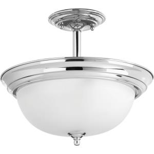 Dome - Two Light Convertible Semi-Flush Mount