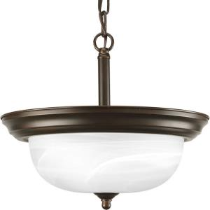 Dome Glass CTC - Close-to-Ceiling Light - 2 Light - Bowl Shade in Traditional style - 13.19 Inches wide by 11.31 Inches high