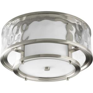 Bay Court - 7.375 Inch Height - Close-to-Ceiling Light - 2 Light - Cylinder Shade - Line Voltage - Damp Rated