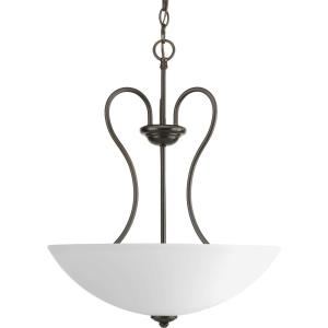 Heart - 3 Light - Bowl Shade in Farmhouse style - 17.75 Inches wide by 21.75 Inches high