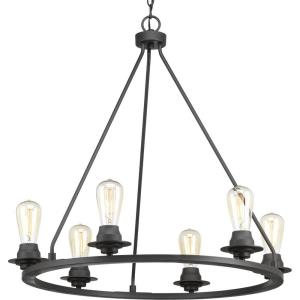 Debut - Chandeliers Light - 6 Light in Farmhouse style - 28 Inches wide by 27.5 Inches high