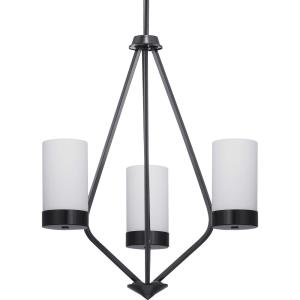 Elevate - Chandeliers Light - 3 Light in Mid-Century Modern style - 21.75 Inches wide by 23 Inches high