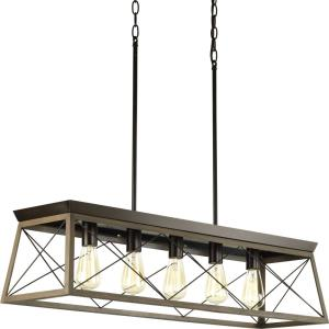 Briarwood - 5 Light Linear Chandelier in Coastal style - 38 Inches wide by 9 Inches high