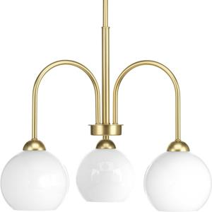Carisa - Chandeliers Light - 3 Light in Mid-Century Modern style - 21.5 Inches wide by 17.5 Inches high