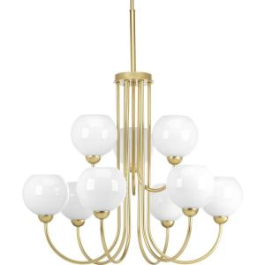 Carisa - Chandeliers Light - 9 Light in Mid-Century Modern style - 31.5 Inches wide by 36.5 Inches high