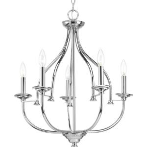 Tinsley - Chandeliers Light - 5 Light in New Traditional and Transitional style - 23 Inches wide by 24 Inches high