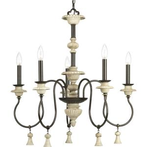 Bergamo - Chandeliers Light - 5 Light in Farmhouse style - 26 Inches wide by 27.88 Inches high
