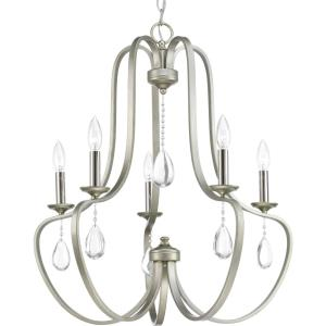 Anjoux - Chandeliers Light - 5 Light in Luxe and New Traditional and Transitional style - 24.63 Inches wide by 26.5 Inches high