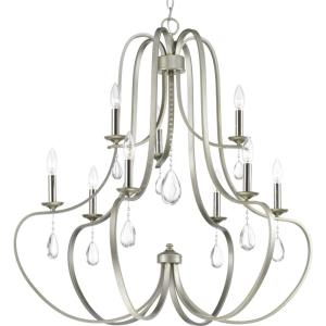Anjoux - Chandeliers Light - 9 Light in Luxe and New Traditional and Transitional style - 34 Inches wide by 34 Inches high