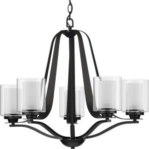 Kene - Chandeliers Light - 5 Light - Cylinder Shade in Modern Craftsman and Modern style - 27.25 Inches wide by 22.5 Inches high