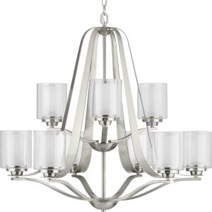 Kene - Chandeliers Light - 9 Light - Cylinder Shade in Modern Craftsman and Modern style - 32.75 Inches wide by 29.88 Inches high