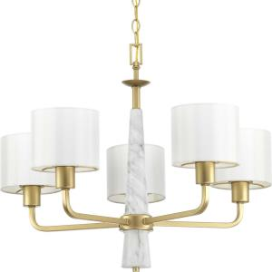 Palacio - Chandeliers Light - 5 Light - Drum Shade in Luxe and New Traditional and Transitional style - 27 Inches wide by 21.5 Inches high