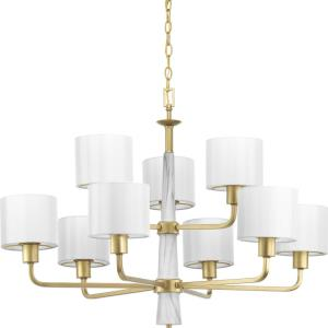 Palacio - Chandeliers Light - 9 Light - Drum Shade in Luxe and New Traditional and Transitional style - 36 Inches wide by 25 Inches high