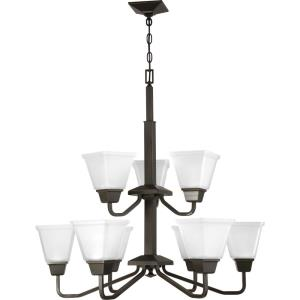 Clifton Heights - Chandeliers Light - 9 Light in Modern Craftsman and Farmhouse style - 30 Inches wide by 30.63 Inches high