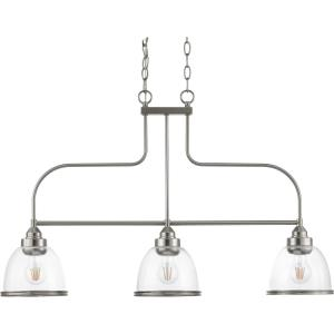 Saluda - 22 Inch Height - Chandeliers Light - 3 Light - Bell Shade - Line Voltage