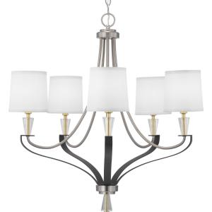 Nealy - Chandeliers Light - 5 Light in Luxe and Modern style - 28.38 Inches wide by 28.25 Inches high