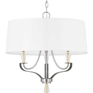 Nealy - Chandeliers Light - 3 Light in Luxe and Modern style - 21.5 Inches wide by 21.38 Inches high