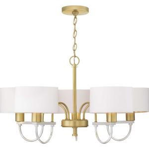 Rigsby - Chandeliers Light - 5 Light in Luxe and Mid-Century Modern style - 32 Inches wide by 16.75 Inches high